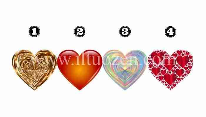 Scegli un cuore e riceverai un messaggio d'amore