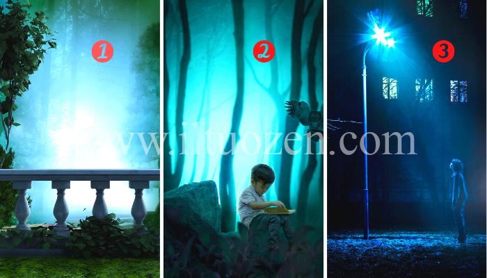 Scegli una luce blu e ricevi un potente messaggio illuminante