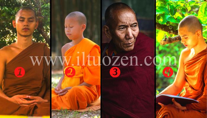 Scegli un monaco e ricevi un messaggio di profonda saggezza