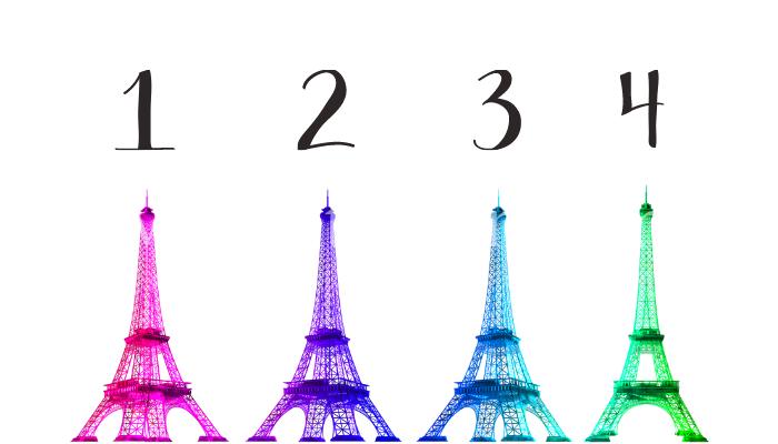 Scegli una Torre Eiffel e riceverai un profondo messaggio d'amore