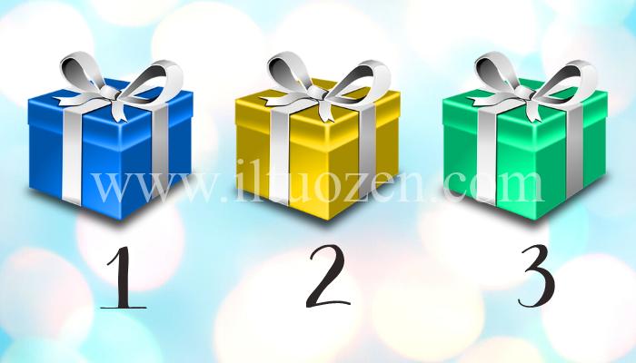 Oggi voglio farti un regalo. Scegli un pacco e scopri il messaggio contenuto al suo interno