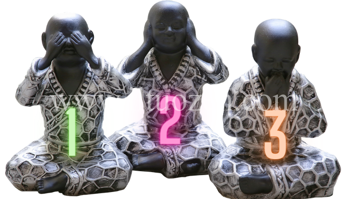 Scegli una statua zen e ascolta il suo sacro insegnamento