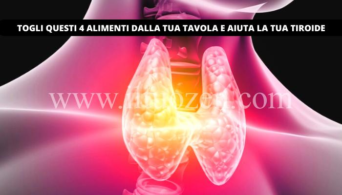 Ecco 4 alimenti che danneggiano fortemente la tua tiroide